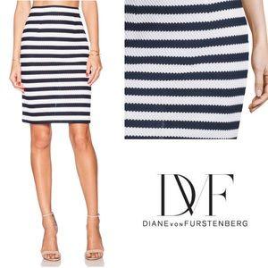Diane von Furstenberg WALDA Striped Skirt NWOT